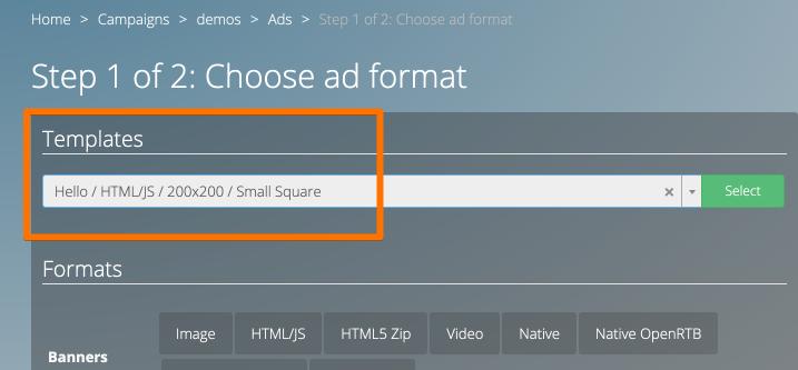Ad templates - Adserver.Online