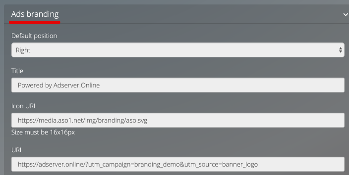 ads branding - adserver.online